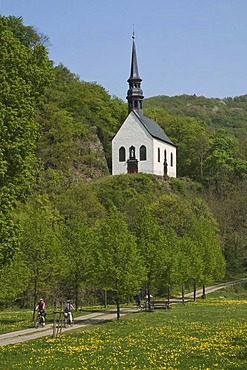Sancta Maria Immaculata pilgrimage chapel, Puetzfeld on the Biebelsley rock, Ahrbrueck, Rhineland-Palatinate, Germany, Europe