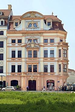 Romanushaus building, Bruehl and Katharinenstrasse, Leipzig, Saxony, Germany, Europe
