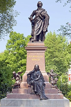 Felix Mendelssohn Bartholdy statue, Leipzig, Saxony, Germany, Europe