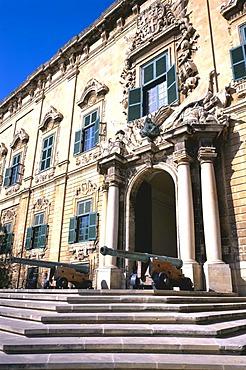 Seat of the Prime Minister, Auberge de Castille, Valletta, Malta, Europe