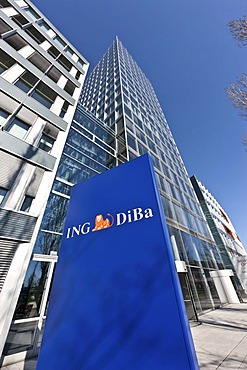Head office of ING DiBa Bank in Frankfurt, Hesse, Germany, Europe