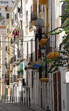 Dalt Vila, historic centre of Ibiza Town, Ibiza, Spain, Europe