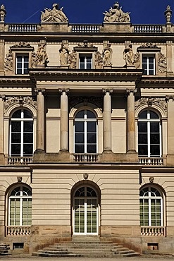 South facade of Schloss Herrenchiemsee palace, Herrenchiemsee, Bavaria, Germany, Europe