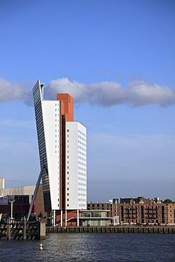 KPN Tower, Toren op Zuid, office tower of Dutch Telecom, Wilhelminapier, Kop van Zuid, Rotterdam, Holland, Netherlands, Europe