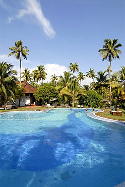 Hotel Coconut Lagoon, pool area, CGH Earth Group, Vembanad Lake, Kerala, India, South India, Asia