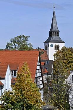 Alter Flecken with St. John's Church, Zuffenhausen district, Stuttgart, Baden-Wuerttemberg, Germany, Europe