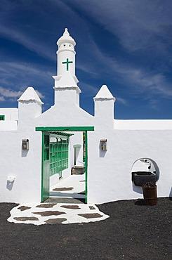 Entrance to the Casa Museo del Campesino farm museum, Mozaga, Lanzarote, Canary Islands, Spain, Europe