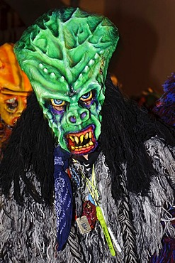 Butzenlauf character, Swabian-Alemannic Fasnacht carnival in Konstanz, Baden-Wuerttemberg, Germany, Europe