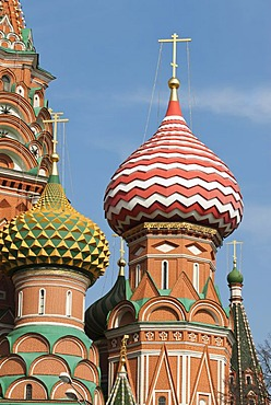 Domes of St. Basil's Cathedral, Red Square, UNESCO World Heritage Site, Moscow, Russia