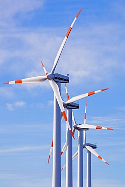 Wind turbines on the Paul da Serra plateau, Madeira, Portugal, Europe