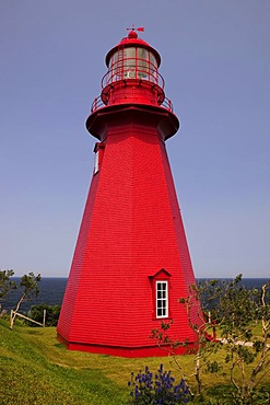 La Martre Lighthouse, Gaspesie or Gaspe Peninsula, Quebec, Canada