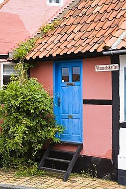 Timber-framed houses in Ronne, Bornholm, Denmark, Europe
