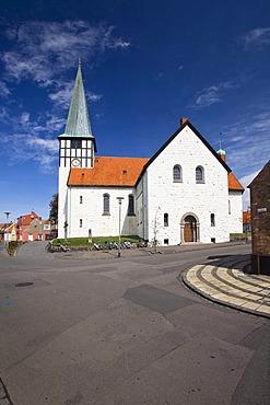 Skt. Nicolaj Kirke church in Ronne, Bornholm, Denmark, Europe