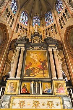 Interior, St Salvator's Cathedral, Sint-Salvator Cathedral, Bruges, Brugge, West Flanders, Flemish Region, Belgium, Europe