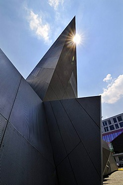 Pavilion 21, the new mobile venue for the Munich Opera Festival on Marstallplatz, Munich, Bavaria, Germany, Europe