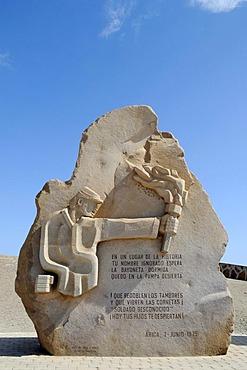 Memorial, monument, El Morro, mountain, landmark, theater of war, War of the Pacific, Arica, Norte Grande, North Chile, Chile, South America