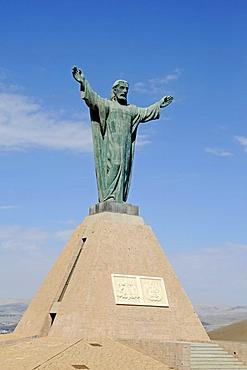 Statue of Christ, statue, monument, El Morro, mountain, landmark, theater of war, War of the Pacific, Arica, Norte Grande, North Chile, Chile, South America