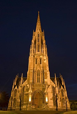 Victorian First Church of Otago, twilight, Dunedin, South Island, New Zealand