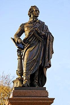 Memorial Friedrich Mendelssohn Bartholdy 1809-1847, Dittrichring, Leipzig, Saxonia, Germany, Europe