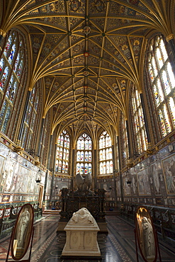 Interior of St. George's Chapel, Windsor Castle, Windsor, Berkshire, England, United Kingdom, Europe