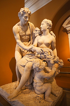 Statue of Vertumnus and Pomona by Laurent Delvaux dated 1725 , Victoria and Albert Museum, London, England, United Kingdom, Europe