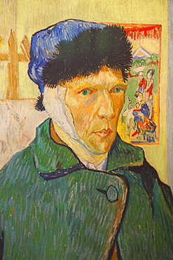 Self Portrait with a Bandaged Ear by Vincent van Gogh, The Courtauld Gallery, Somerset House, London, England, United Kingdom, Europe