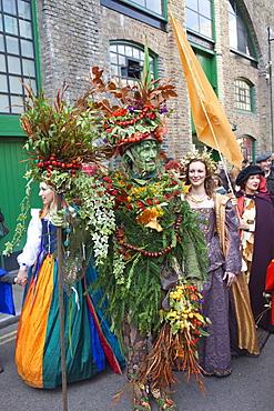 The Berryman, Autumn Harvest Festival Parade, Southwark, London, England, United Kingdom, Europe