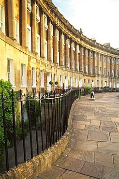 Royal Cresent, Bath, UNESCO World Heritage Site, Somerset, England, United Kingdom, Europe