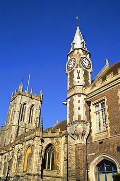 St. Peter's Church and Guild Hall, Dorchester, Dorset, England, United Kingdom, Europe