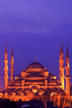 Blue Mosque (Sultan Ahmet Camii), Istanbul, Turkey, Europe