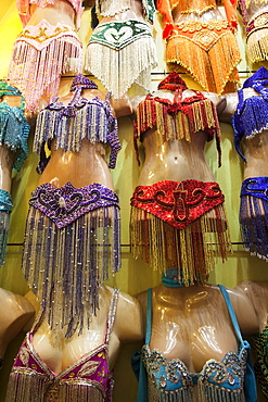 Belly dancing costumes for sale, Grand Bazaar, Sultanahmet, Istanbul, Turkey, Europe