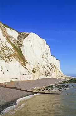 White Cliffs of Dover, St. Margarets Bay, Kent, England, United Kingdom, Europe