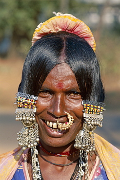 Gypsy woman portrait, Goa, India, Asia