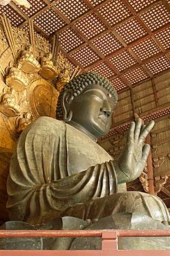 Great Buddha Vairocana (Daibutsu), Todaiji Temple, Nara, UNESCO World Heritage Site, Honshu, Japan, Asia