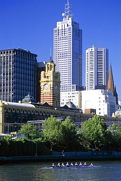 City skyline and Yarra River, Melbourne, Victoria, Australia, Pacific