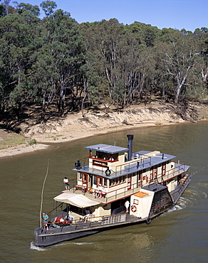 Paddlesteamer on the Murray River, Echuca, Victoria, Australia, Pacific