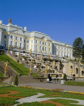Peterhof Palace (Petrodvorets Palace), The Great Palace, St. Petersburg, Russia, Europe