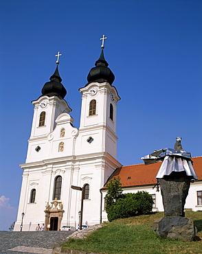 Abbey Church, Tihany, Lake Balaton, Hungary, Europe