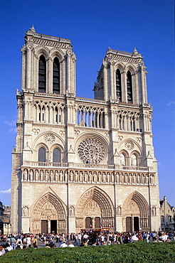 Notre Dame Cathedral (Cathedrale Notre-Dame), Paris, France, Europe