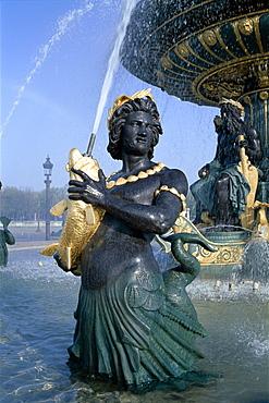 Fountains, Place de la Concorde, Paris, France, Europe