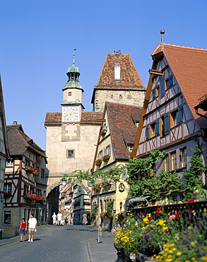Rothenburg ob der Tauber, Bavaria, Romantic Road (Romantische Strasse), Germany, Europe