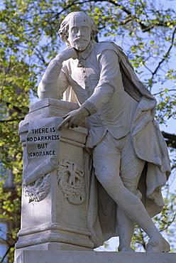 Shakespeare statue, Leicester Square, London, England, United Kingdom, Europe