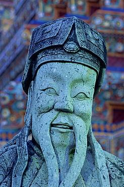 Chinese statue, Wat Pho, Bangkok, Thailand, Southeast Asia, Asia