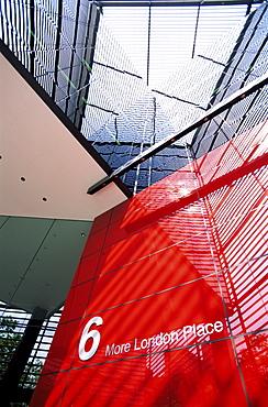 Entrance to 6 More London Place, Southwark, London, England, United Kingdom, Europe