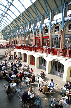 People dining in Covent Garden, London, England, United Kingdom, Europe