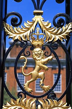 Kensington Palace Gate detail, Kensington Gardens, London, England, United Kingdom, Europe