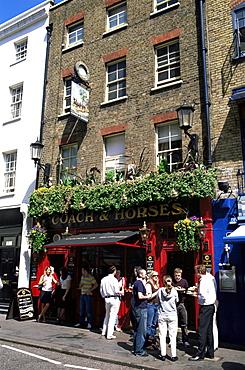Coach and Horses pub, Covent Garden, London, England, United Kingdom, Europe