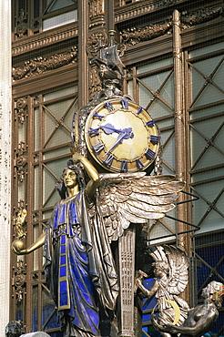 Art Deco clock, Selfridges Department Store, Oxford Street, London, England, United Kingdom, Europe
