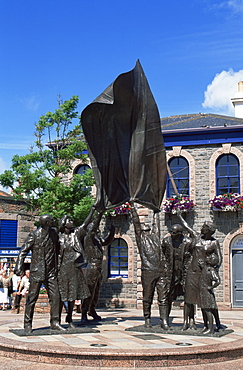 Liberation Statue, Liberation Square, St. Helier, Jersey, Channel Islands, United Kingdom, Europe