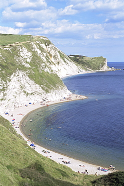 St. Oswalds Bay, Lulworth, Jurassic Coast, UNESCO World Heritage Site, Dorset, England, United Kingdom, Europe